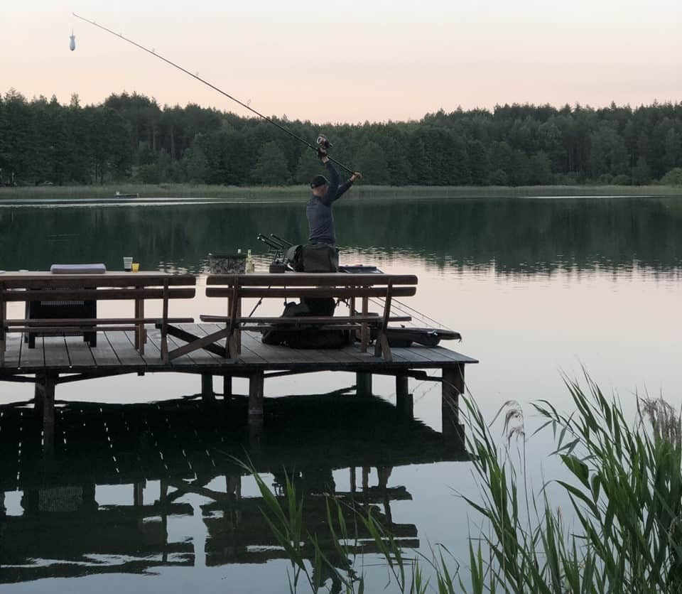 žvejyba ežere kaimo turizmo sodyboje